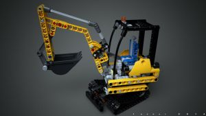 Lego 8047 Compact Excavator v2.0 by Ineray
