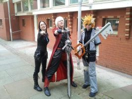 Alcon2013 - Roxas and Selene With Dante by BritishBumpkins