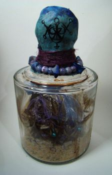Witch Bottle #26 (back/sigil detail) by crackedmoon