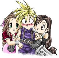 c and tifa and a by chaosmalestorm