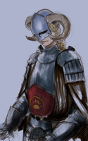 Tiefling Paladin (Draw Request) by photon-expression