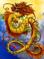 Chinese Dragon of the Sun by DiekeDrake