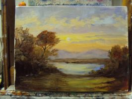 Oil painting environment study 1 by JordyLakiere