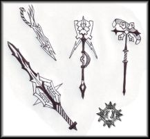 Weapons by Master-Cerberus