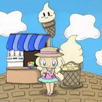 The Little Ice Cream Seller by Mushroom-Cookie