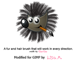 Hair Fur Brush Moded for Gimp by onyxrayne