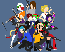 Femme Fatales plus one by PaddysDemon