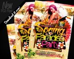 Spring Paradise Party Flyer Template PSD by REMAKNED