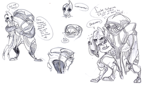 Caring for Krogan. Problematic. by Wolf-Shadow77