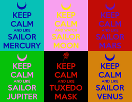 Keep Calm Inner Senshi by g-girl1