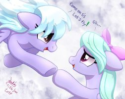MLP FIM - Cloudchaser And Flitter Let's Fly by Joakaha