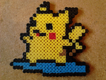 Surfing Pikachu Bead Sprite by SwedishBattery