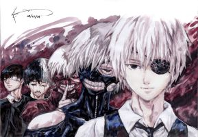 The Evolution of Kaneki Ken by Nick-Ian