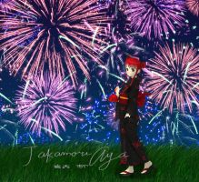 Yoriko - Fireworks display by Black27Neko