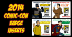 Nerdmigos Print N' Play Comic-Con 2014 Badge Set by IAMO76