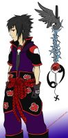 Kingdom Hearts Cross: Sasuke by CheckeredChinchilla
