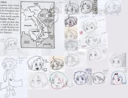 Hetalia School Doodles 2 by Strawberry-Despair