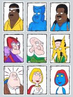 Family Guy Sketch Cards B by ElainePerna