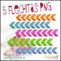 5 Flechitas Png by VickyDeBieber