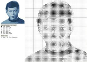 Bones McCoy Cross Stitch Chart by black-lupin