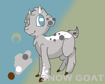 Snow Goat by Hoopafrench