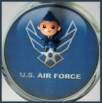 Chibi-Charms: Air Force Blues by MandyPandaa