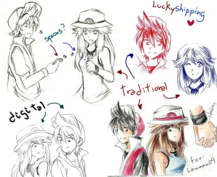 Sketch 5: Luckyshipping! by HaruYuzuki