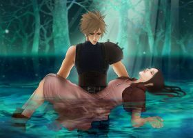 Aerith's death by dune-art