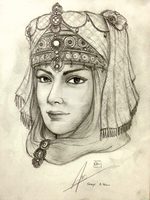 Princess Ahu of Sarravid Empire by Gambargin