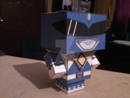 Blue Ranger with Dragon Shield CubeeCraft by SuperVegeta71290
