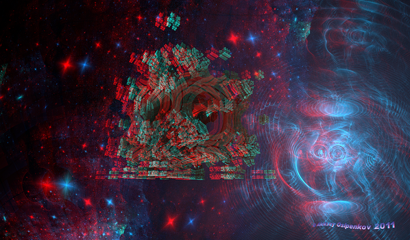 In Distant Space Anaglyph 3D Stereoscopy by Osipenkov