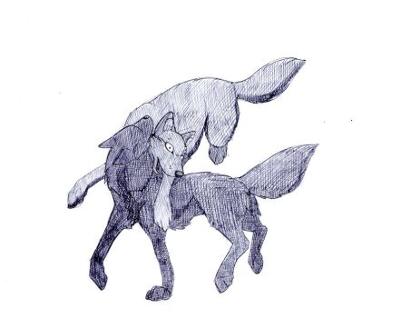 Unstoppable Black Wolf by SkullCladWolf