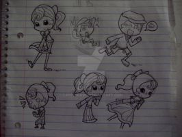 Luke and Flora doodles by capcappucca222