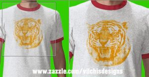 T Shirt: Tiger Face by Vilchis
