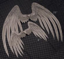 Wings - Gray Angel by TheMushroomPeddler