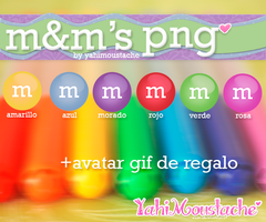 m and m's de colores *-* by Yahi-m
