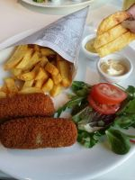 Dutch Croquettes with fries  by nosugarjustanger