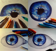 Ballpen Eye WIP by Cindy-R