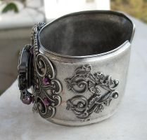 Silver Winged Cuff Watch -1 by Aranwen