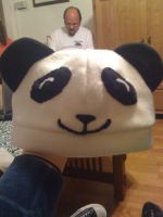 Panda Fleece Hat by Jolly-Jess