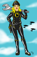 Lady Blackhawk Redesign by EarthmanPrime