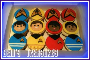 Star Trek Cupcakes by gertygetsgangster