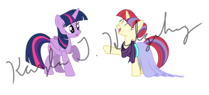 Moon Dancer and Twilight by kaylathehedgehog