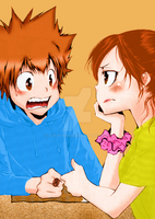 Tsuna and Haru by Sussy-chan