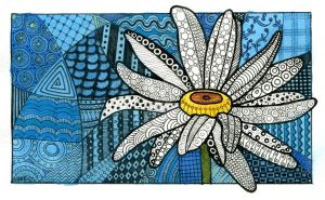 flower zentangle 3 by MonaLisaSmile23