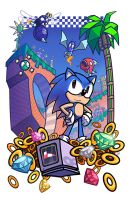 Epic Game Print - Sonic the Hedgehog by JoeHoganArt