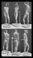 contrapposto sculpture by bolognafingers