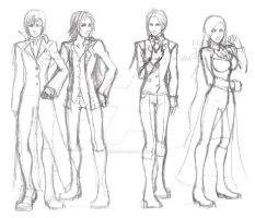 The Sanctum -sketch- in suits by cGeneticist