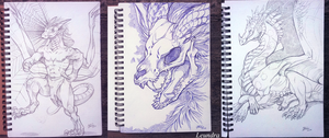 First sketches in 2016 by Leundra