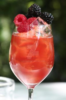 Wildberries alcohol cocktail by broalex